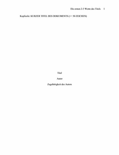 APA-Papierformat