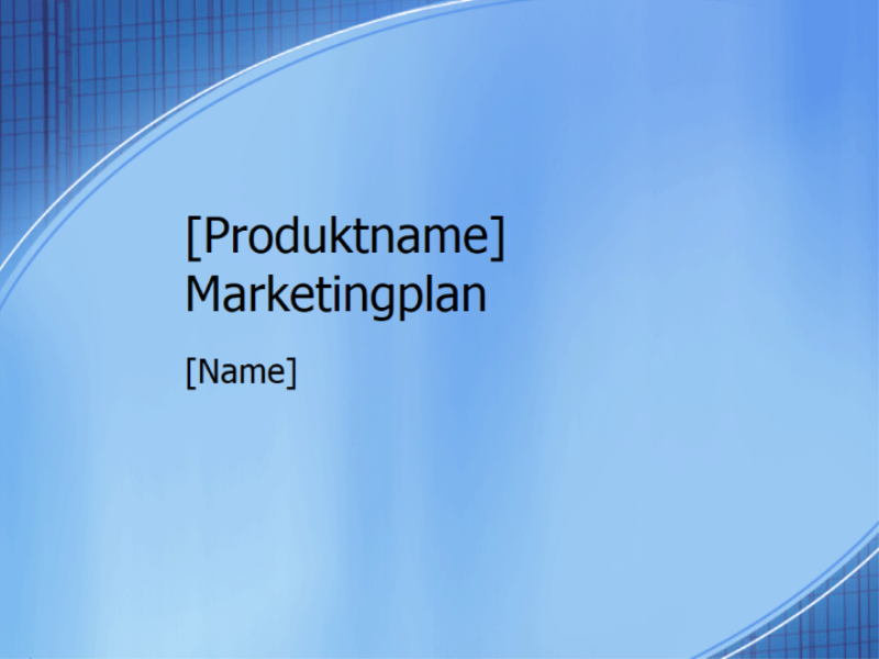 Marketingplanpräsentation