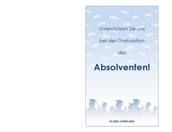 Invitation à une fête de diplôme (conception fête de diplôme, deux volets)