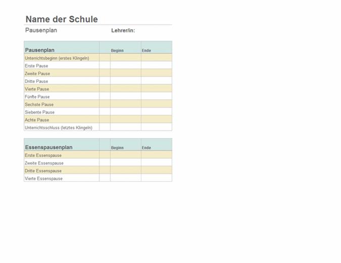 Liste de durée des classes