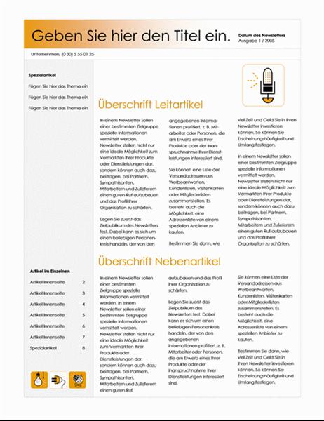 Bulletin d'information (thème Accessoire, 4-col.)
