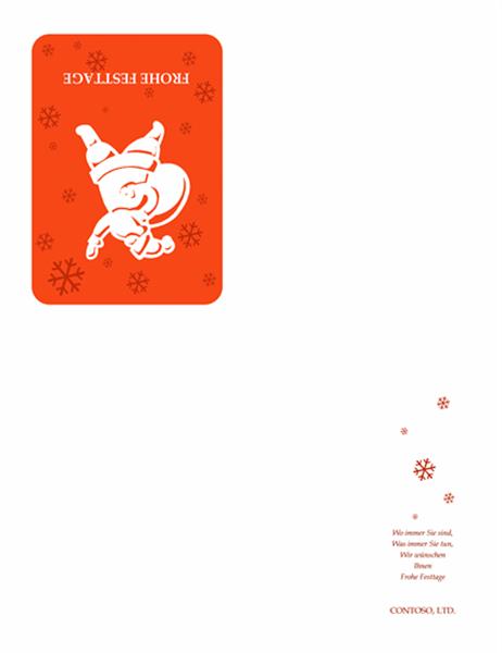 Carte de voeux (avec Père Noël)
