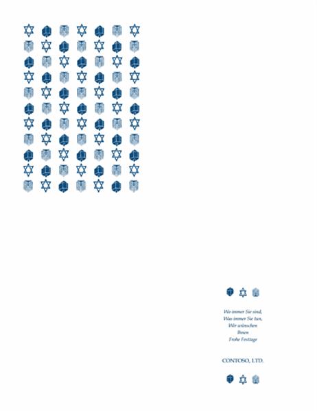 Geschäftliche Chanukka-Karte
