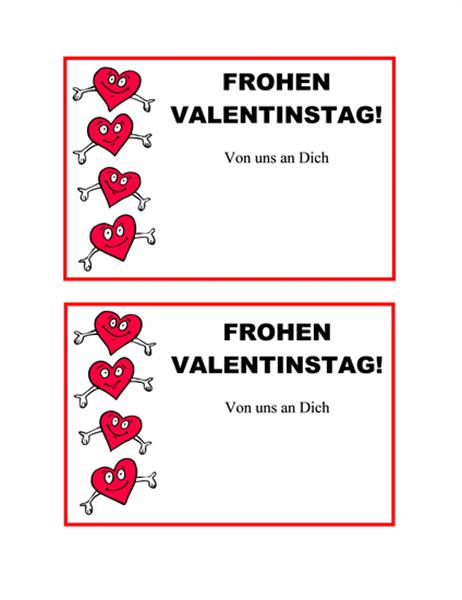 Carte postale pour la Saint Valentin