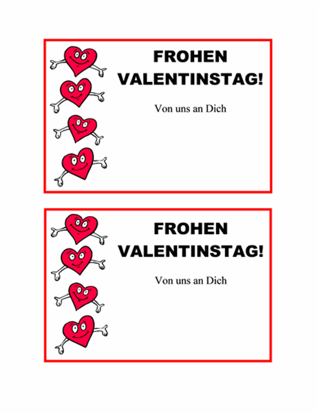 Postkarte zum Valentinstag