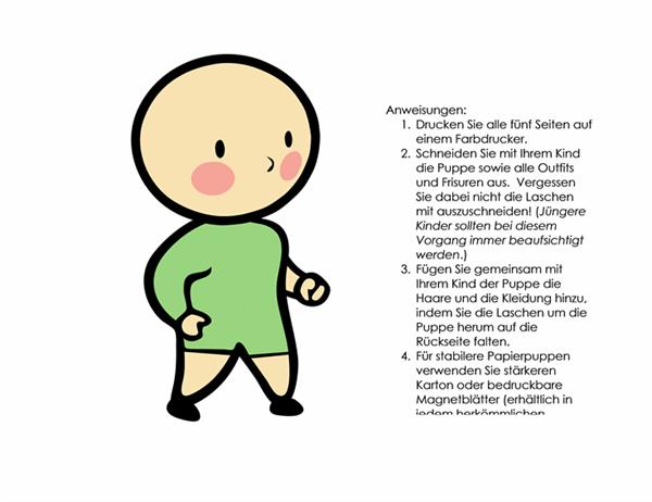 Papierpuppe (Junge, Set 3)