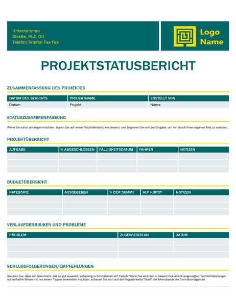 Projektstatusbericht (Timeless-Design)