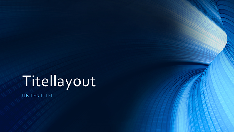 Digitale Businesspräsentation Blauer Tunnel (Breitbild)