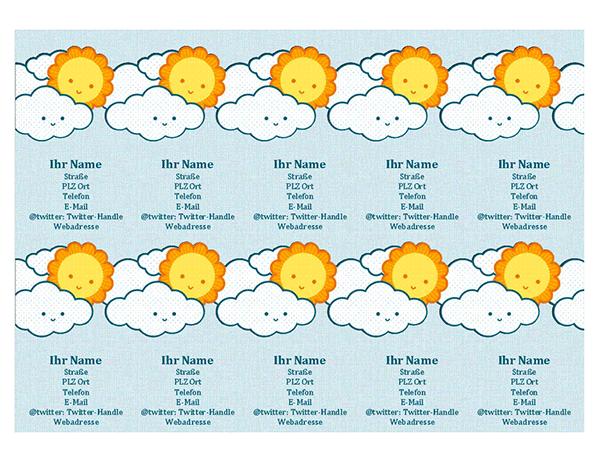 Persönliche Visitenkarten (10 pro Seite)