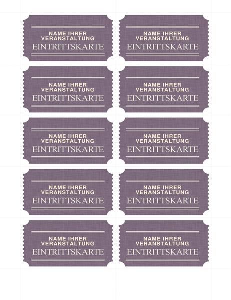 Tickets de base (10 par page)