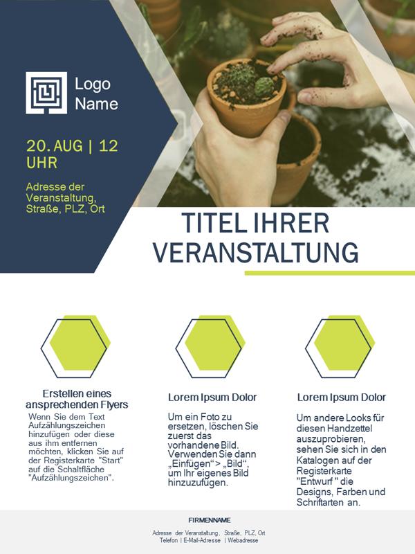 Flyer für Kleinunternehmen (grünes Design)