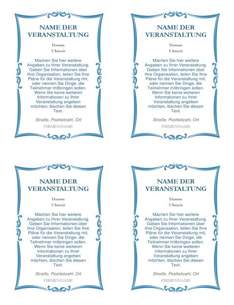 Eventeinladungen (4 pro Seite)