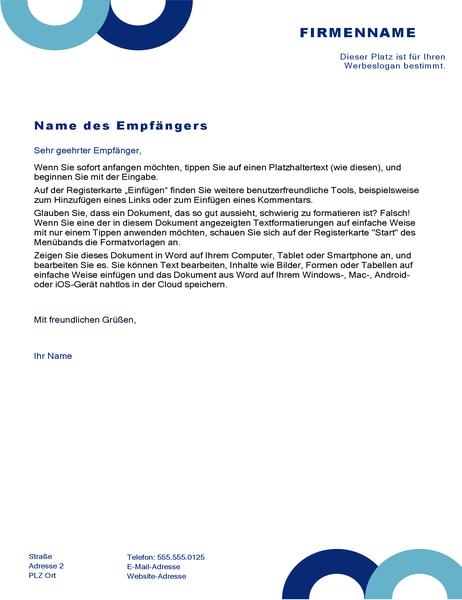 Briefkopf (Bogen-Design)