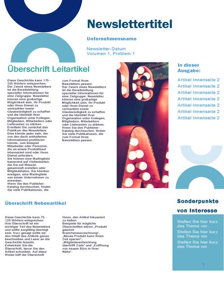 Geschäftsnewsletter (Arc Design, 4 Seiten)