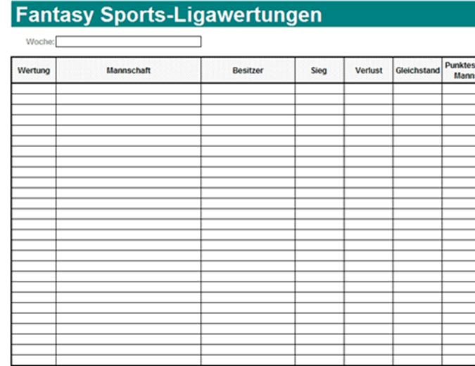 Fantasy Sports-Ligawertungen