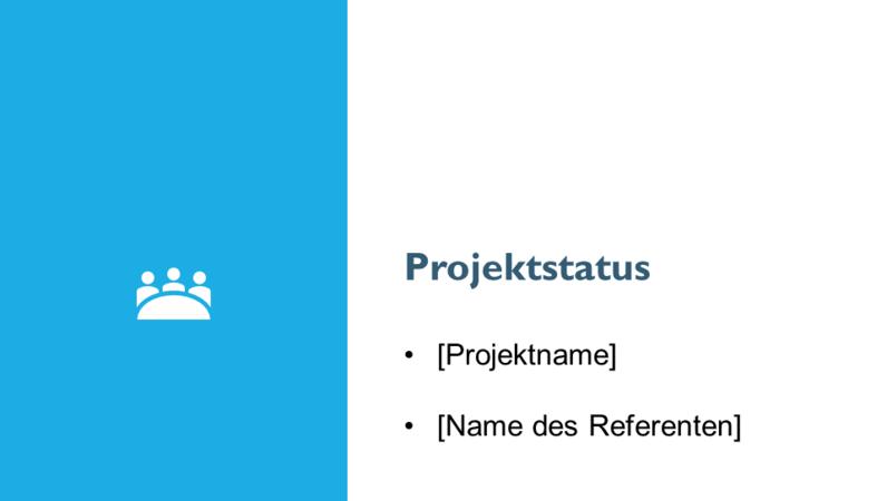 Projektstatusberichtpräsentation