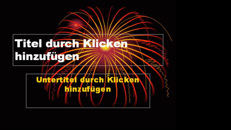 """Designvorlage """"Feuerwerk"""""""