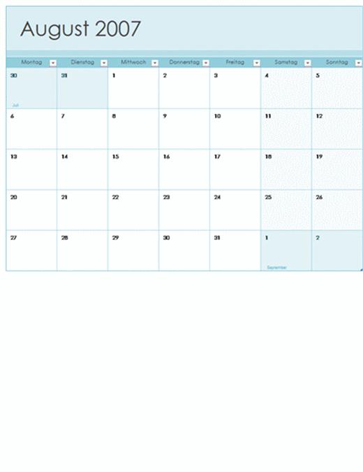 Akademischer Kalender 2007-2008 (13 Seiten, Mo-So)