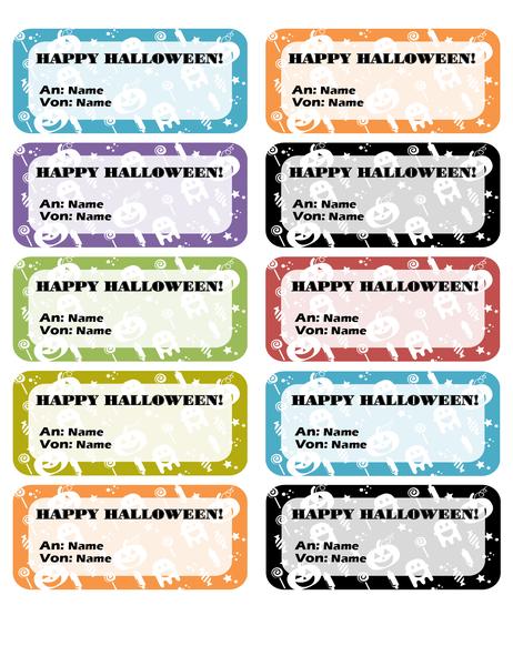 "Etiketten ""Halloween"" (10 pro Seite)"