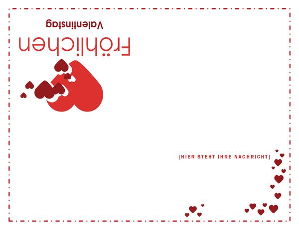 Karte zum Valentinstag (vierfach gefaltet)
