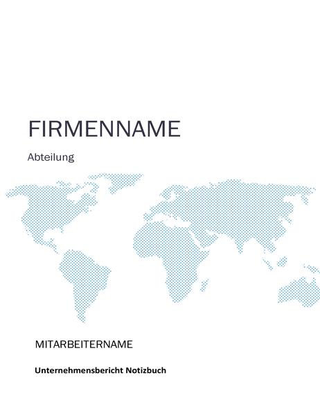 Notizbuch-Kit für den Unternehmensbericht (Umschlag, Ordnerrücken, Trennlaschen)