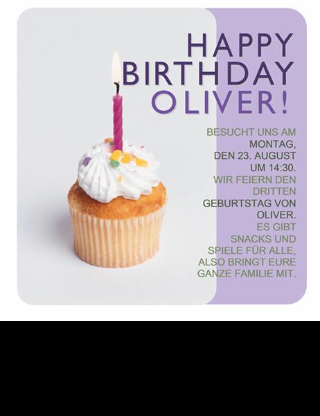 Handzettel Geburtstagse inladung
