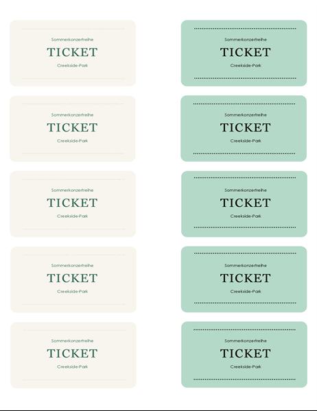 Tickets für eine Veranstaltung