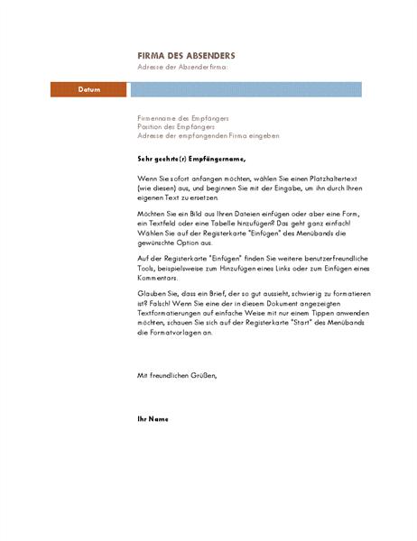 Geschäftsbrief (Median-Design)