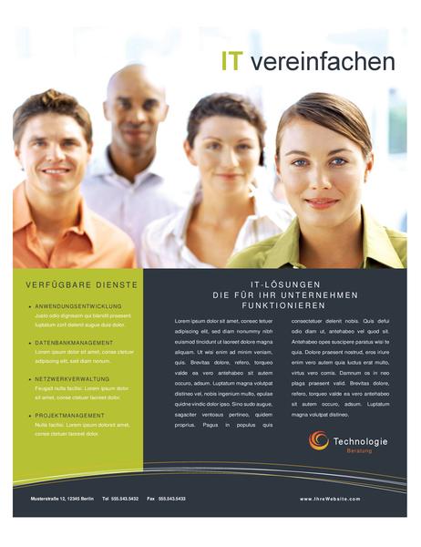 Broschüre für Technologieunternehmen