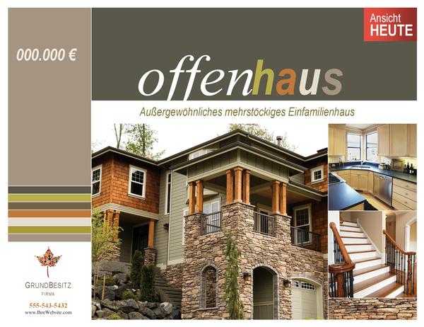 Poster für Immobilien (horizontal)
