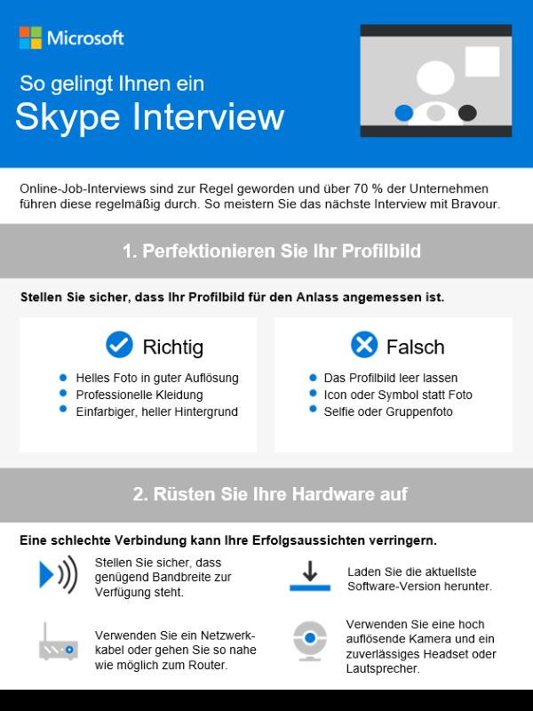 So gelingt Ihnen ein Skype-Interview