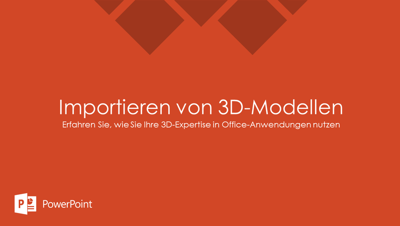 Importieren von 3D-Modellen