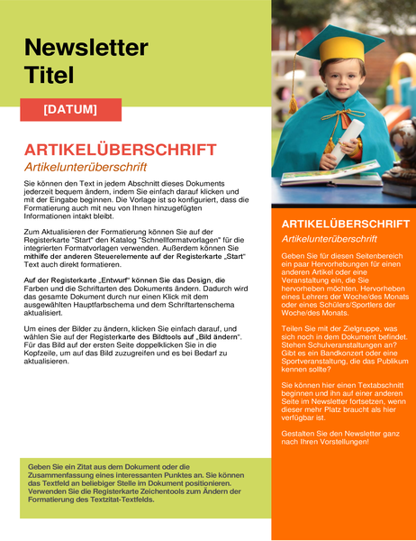 Schul-Newsletter