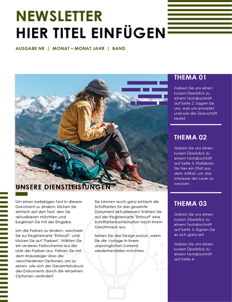 Reise-Newsletter