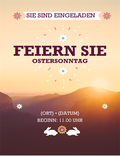 "Oster-Flyer ""Sonnenaufgang"""