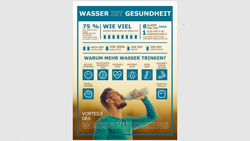 Affiche d'infographie Eau potable