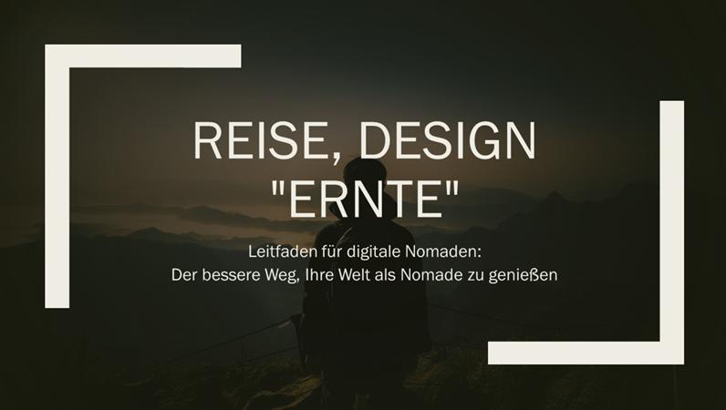 """Reise, Design """"Ernte"""""""