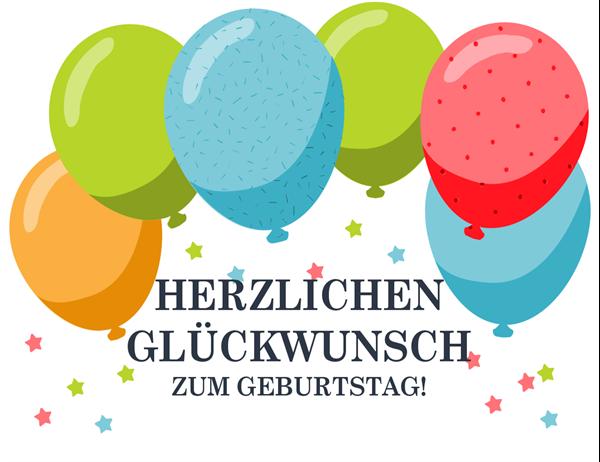 "Geburtstagskarte ""Luftballons"""