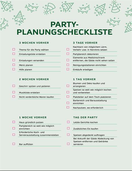 Party-Planungscheckliste