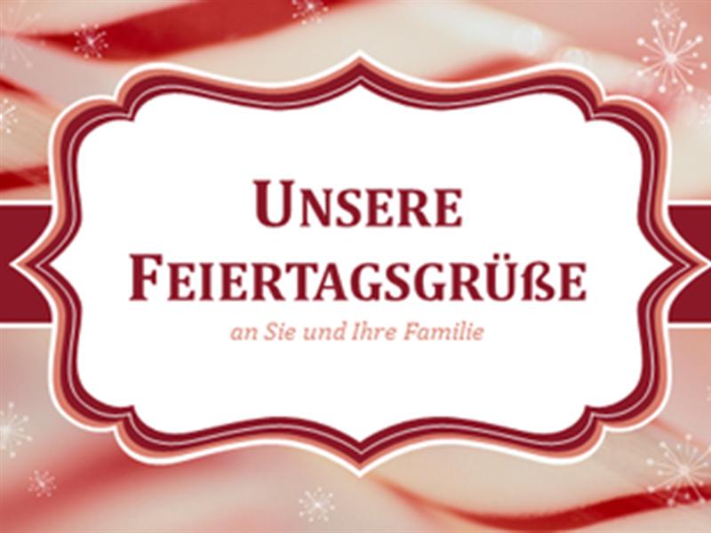 Weihnachtskarten mit Zuckerstangenwirbeln (2 pro Seite)