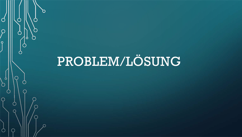 Zyklus Problem/Lösung
