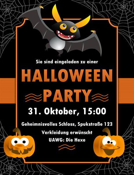 """Halloween-Einladung """"Fledermaus"""""""