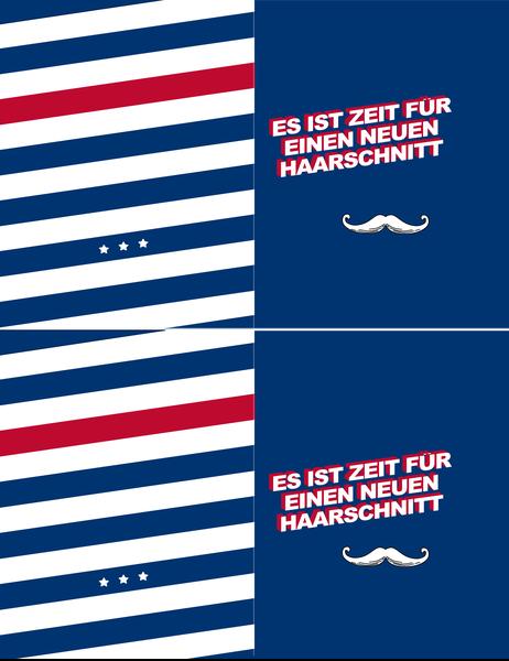 """Skurrile Alltagsgrußkarte """"Schnurrbart"""""""