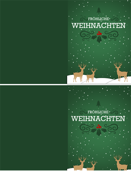 """Weihnachtskarte """"Rentiere"""""""