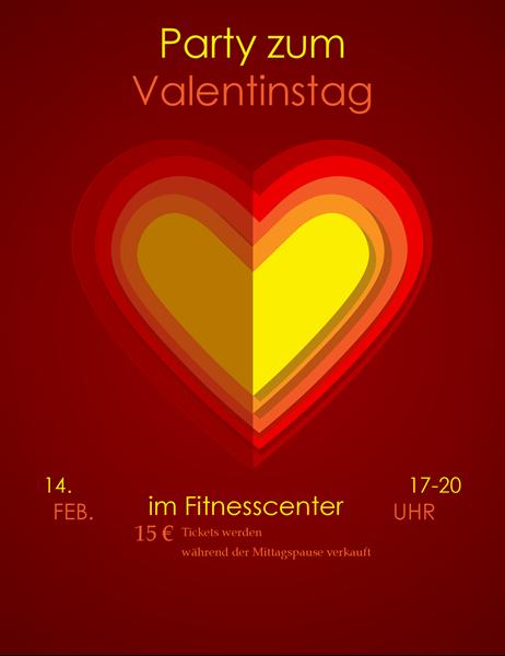 "Flyer zum Valentinstag ""Herzen in Herzen"""