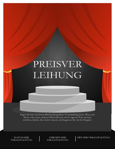 Prospectus de cérémonie de remise de prix