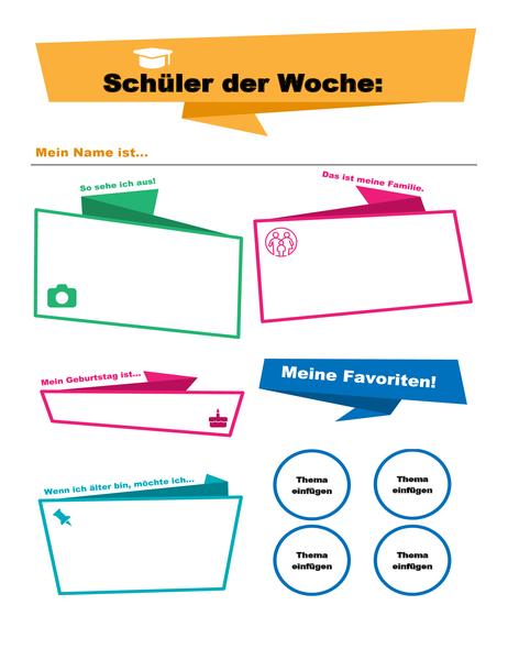 """Poster für """"Schüler der Woche"""""""