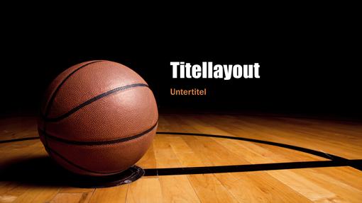 """Präsentation """"Basketball"""" (Breitbild)"""