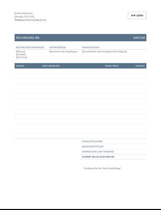 Rechnung (zeitloses Design)