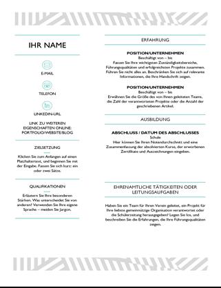 CV créatif, conçu par MOO